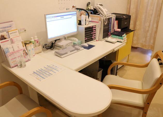 対馬ルリ子女性ライフクリニック銀座 診察室
