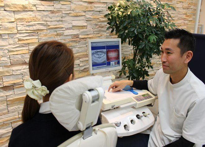 国立デンタルオフィス 国立市 治療説明を行う歯科医師の写真
