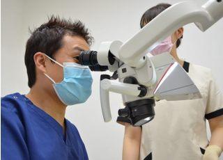 永田歯科医院 立川市 マイクロスコープを使った治療の写真