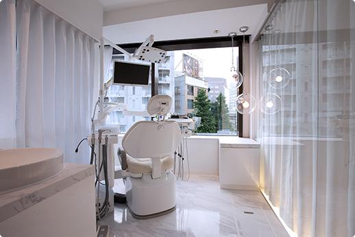さとうデンタルクリニック 完全個室の診療室の写真