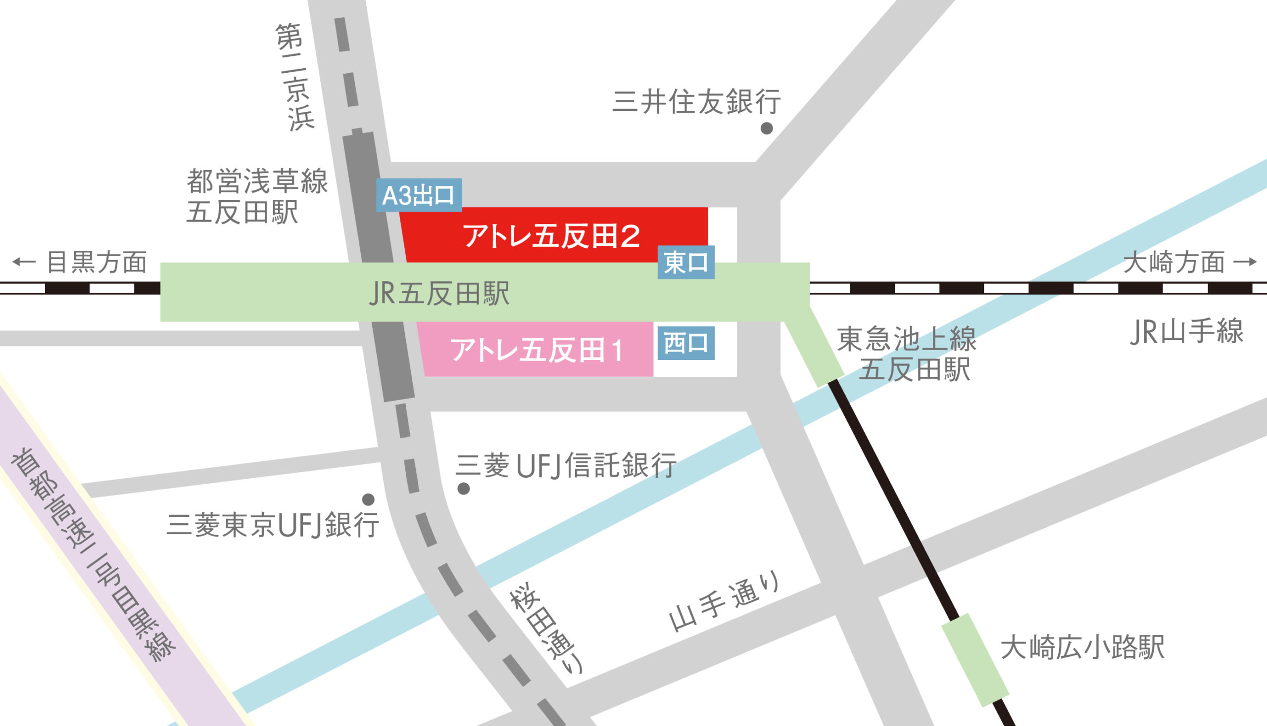 アトレ五反田2駐輪場