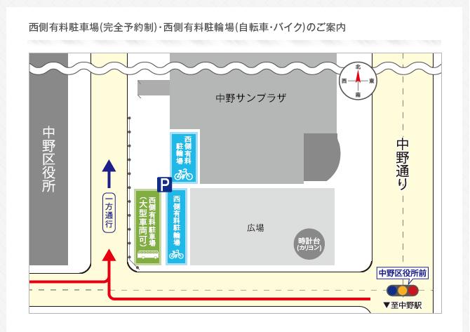 中野サンプラザ駐輪場